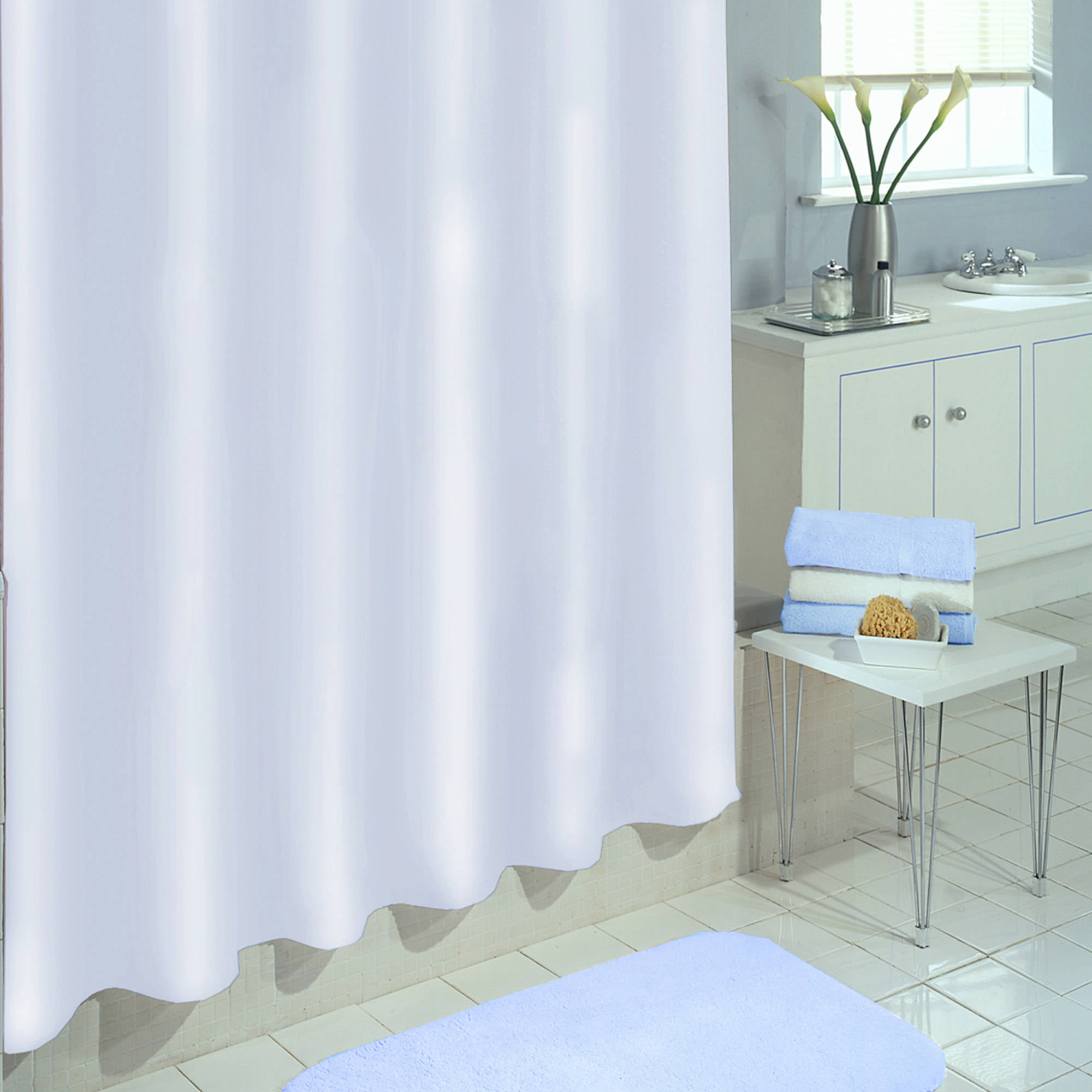 Excell Eco Soft PEVA Shower Curtain Liner Walmart Com