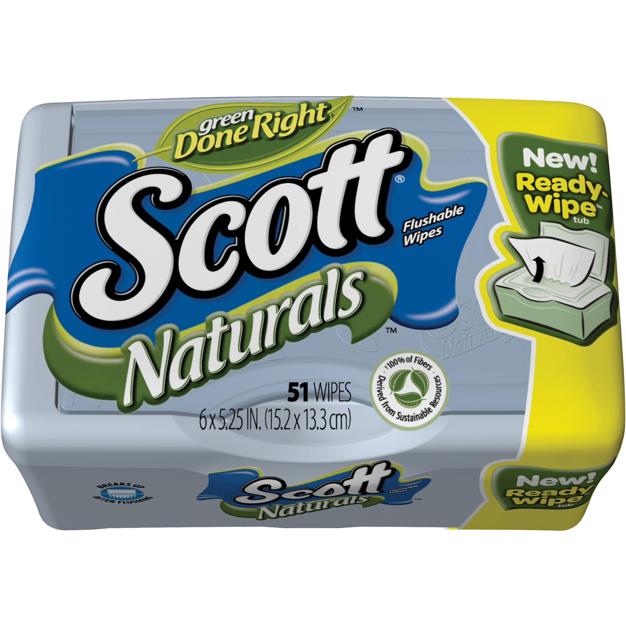 Scott Moist Wipes Tub, Scented, 51