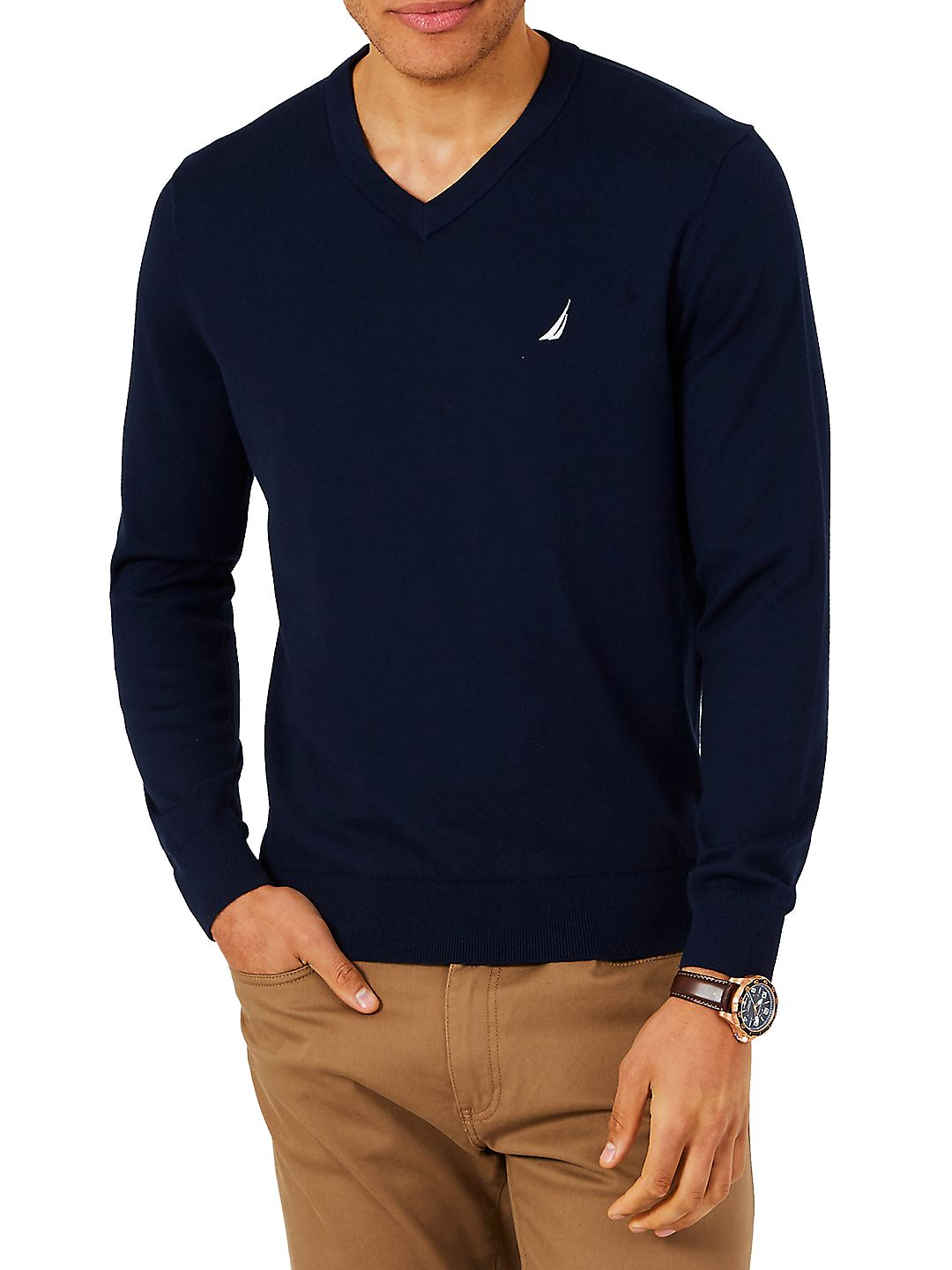 Logo V-Neck Sweater