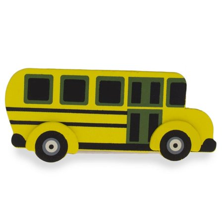 Wooden School Bus Cut Out 4.75 Inches](Grinch Wooden Cut Out)