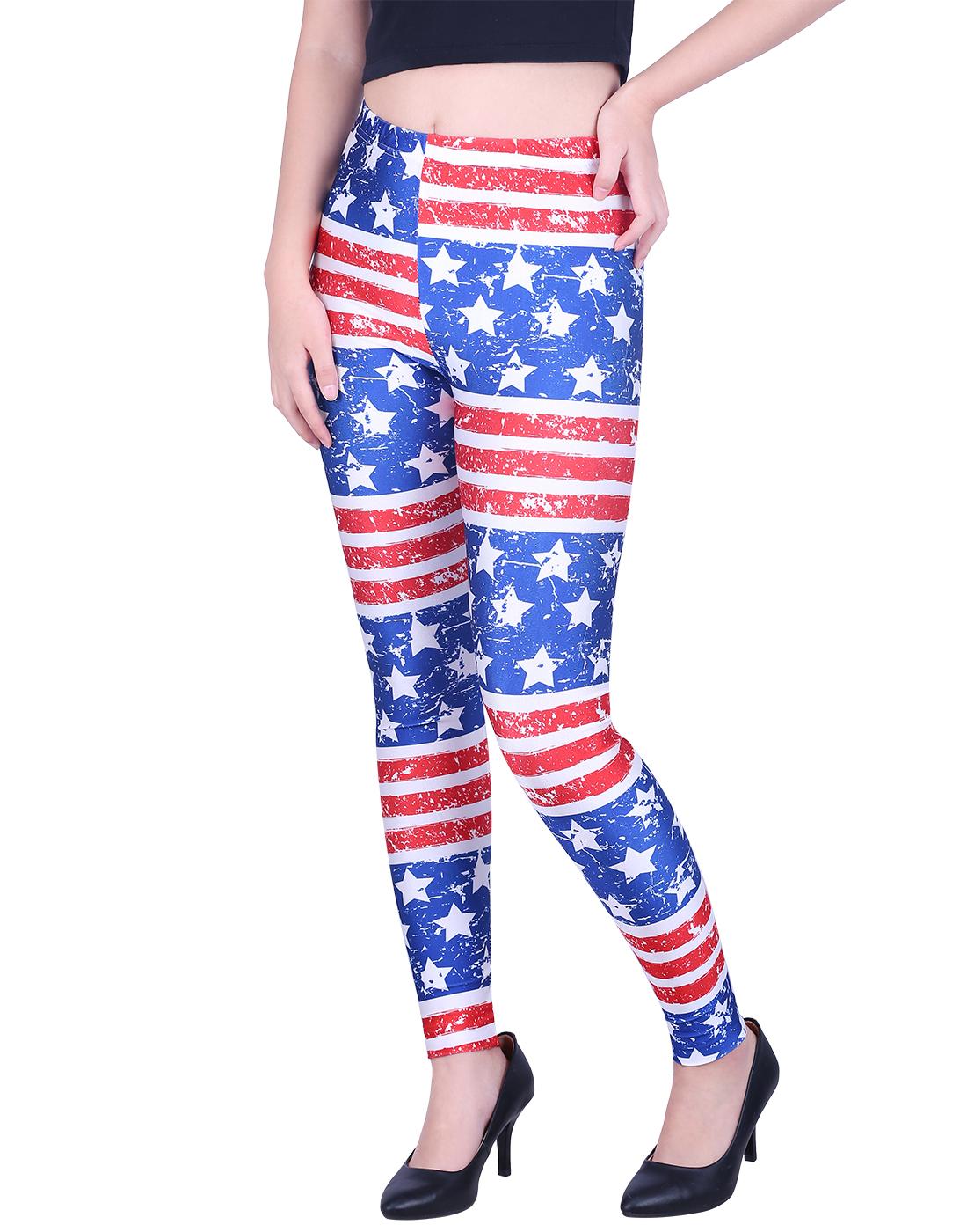 Women's Leggings Graphic Print Tights Fun Digital Design Holiday Elastic Pants
