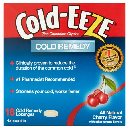 - Cold-Eeze Cold Remedy All Natural Cherry Flavor Cold Remedy Lozenges Homeopathic, 18 count