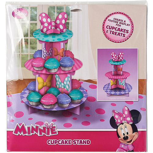 Minnie Mouse Bow-Tique Birthday Cupcake Stand, Party Supplies