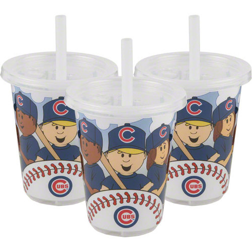 Baby Fanatic Sip N Go 3 Pack of Cups - Chicago Cubs Chicago Cubs BFBBCHICSGC