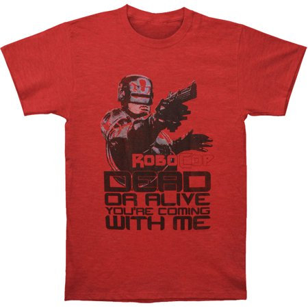 Robocop Men's  Dead Or Alive T-shirt Cherry Tri Blend