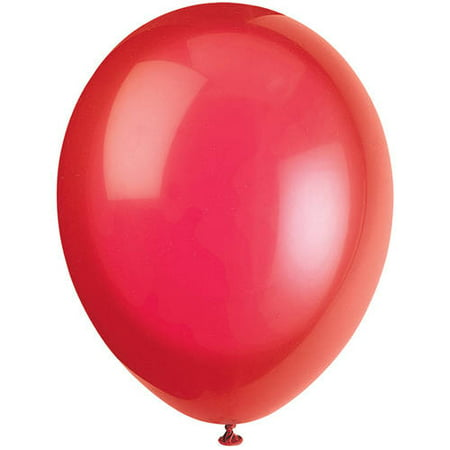Crystal Latex Balloons, 12 in, Scarlet Red, - Balloon Latex