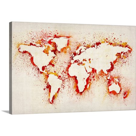 Great BIG Canvas | Michael Tompsett Premium Thick-Wrap Canvas entitled Paint stencil map of the world - Michaels Stencils