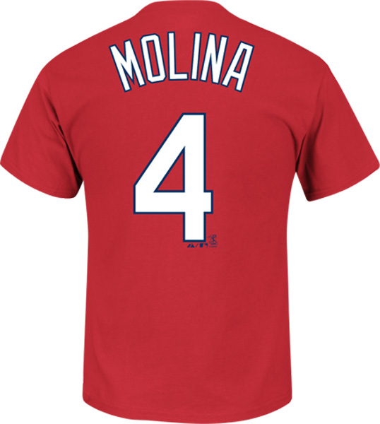 Yadier Molina St Louis Cardinals Majestic MLB Player Men T Shirt Red