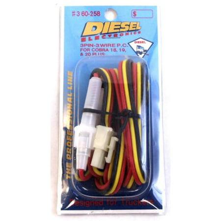 diesel 360-258 cb radio power cord w/3-pin plug for cobra 18,19 & 20 plus  series - walmart com