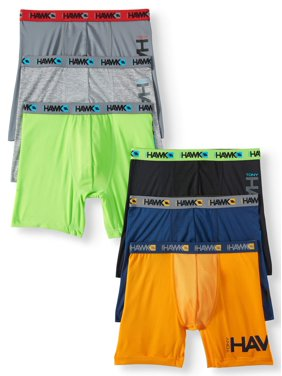 Tony Hawk Boys Underwear, 6 Pack Performance Boxer Briefs Sizes 6/8 - 16/18