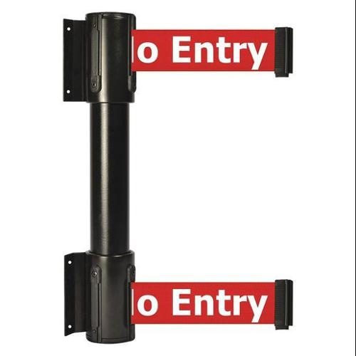TENSATOR 896T2-33-STD-RBX-C Belt Barrier, 7-1/2 ft, No Entry, Black