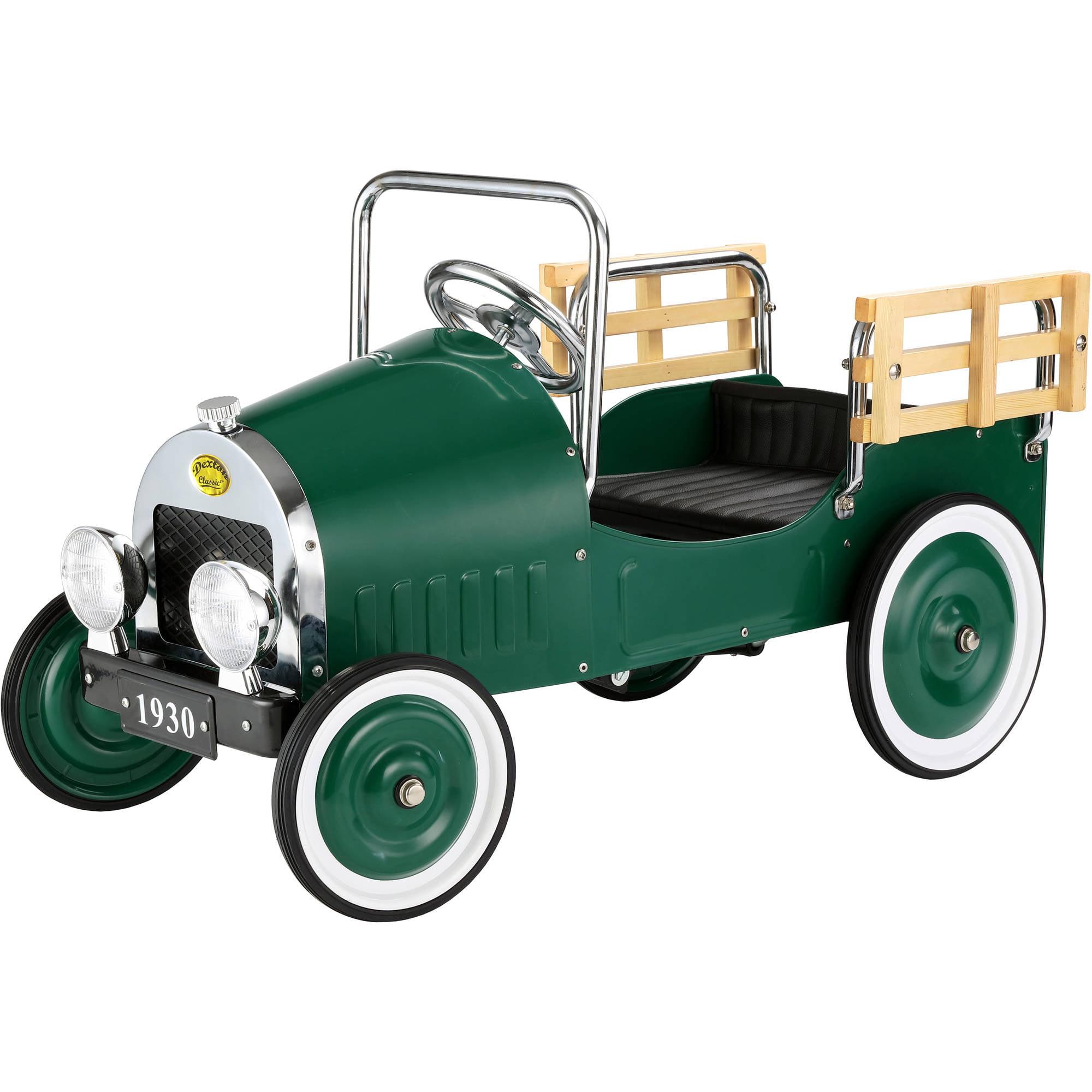 Retro Pickup Truck Pedal Car Green