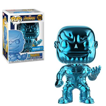 Manhattan Blue Pop (Funko POP Marvel: Infinity War - Thanos - Blue Chrome - Walmart Exclusive )