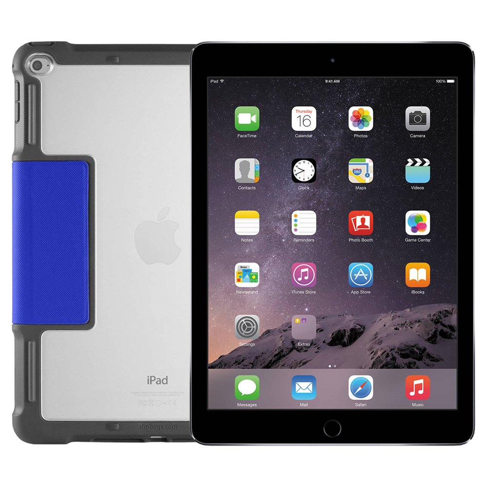 Apple iPad Air 2, 9.7in, Wi-Fi, 16GB, Space Gray with Rugged Case (MGL12LL/A) (Refurbished)