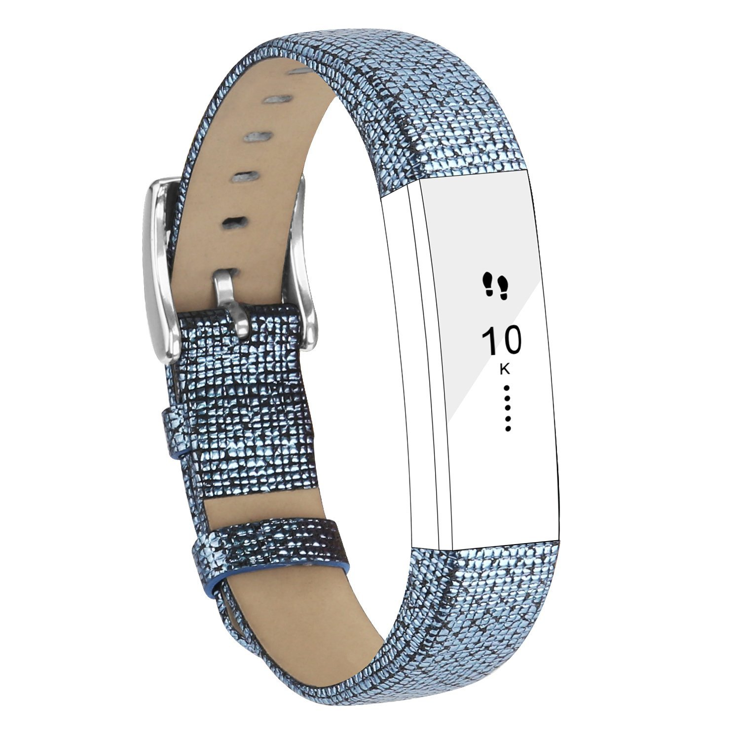 Fitbit Alta Bands Leather Alta HR Bands Adjustable Replacement Sport Strap Band for Fitbit Alta HR Accessory (Black)