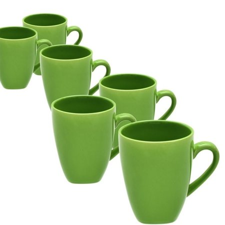 10 Strawberry Street Nova Square Mugs, Set of 6 (Coffee Cup Corelle)