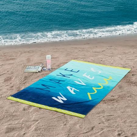 Wildcats Printed Towel - Better Homes & Garden Make Waves 100% Cotton Printed Beach Towel