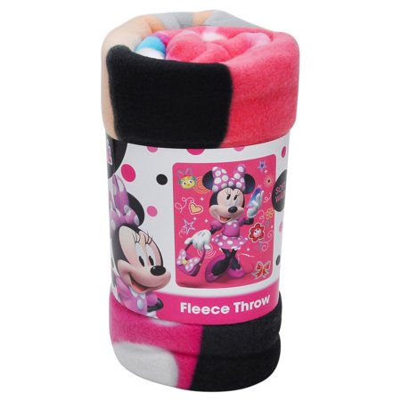 Girls Minnie Mouse Unstoppable Fleece Throw Blanket 45