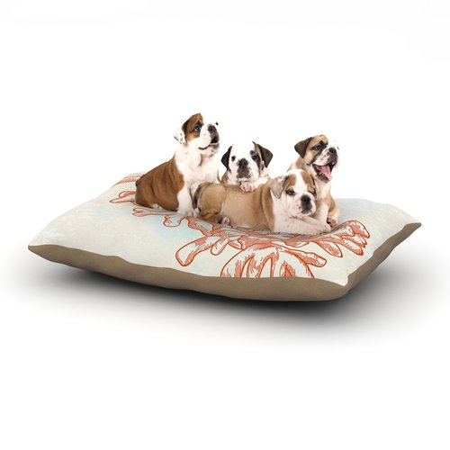 East Urban Home Sam Posnick 'Bicycle' Dog Pillow with Fle...
