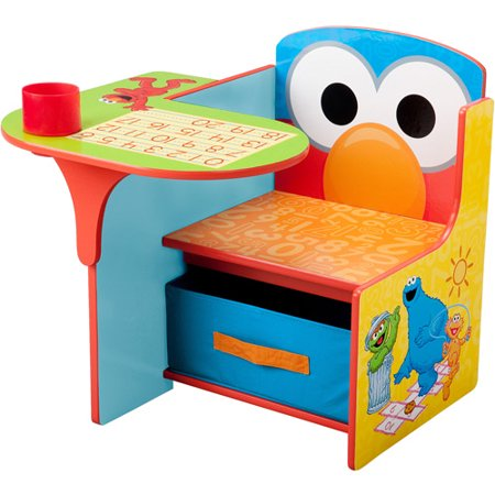 Sesame Street Elmo Toddler Desk Chair With Storage Walmart Com