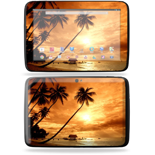 "Mightyskins Protective Skin Decal Cover for Samsung Google Nexus 10 Tablet with 10"" screen wrap sticker skins Sunset"