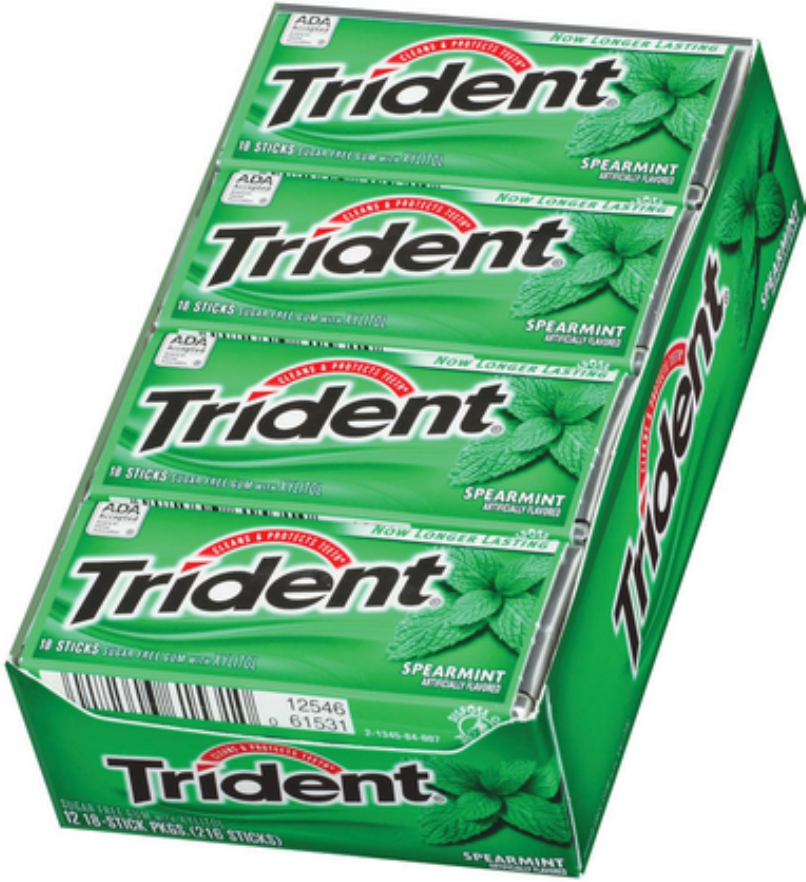 Trident Systems 6 Pack - Trident Sugar Free Gum Spearmint...