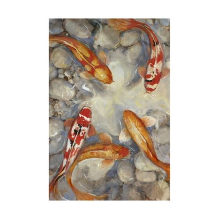 Art Tin - Vibrant Koi I Print Wall Art By Tim O'toole
