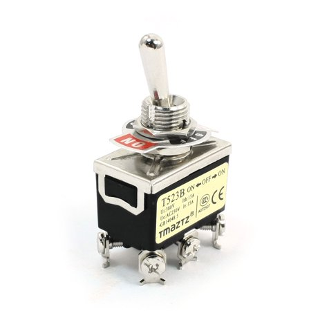 Locking Mute Switch (ON/OFF/ON 3 Position DPDT 6 Screw Terminal Locking Toggle Switch 380V)