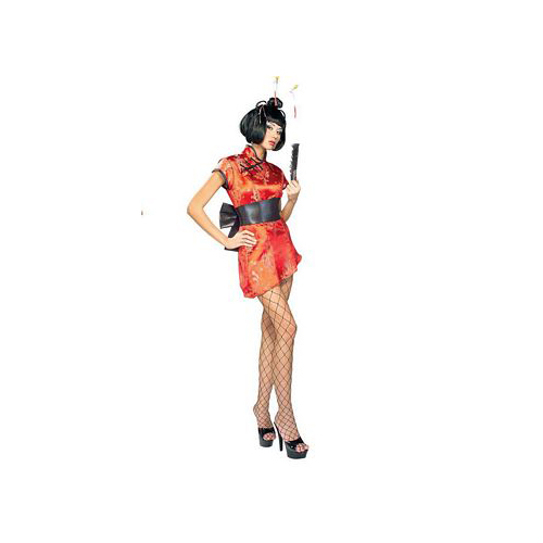 Rubie's Japanese Lady Costume 888162 Rubies Red