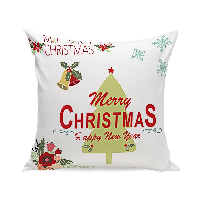 Christmas Style Super Soft Square Throw Pillow Case Decorative Cushion Pillow Cover by