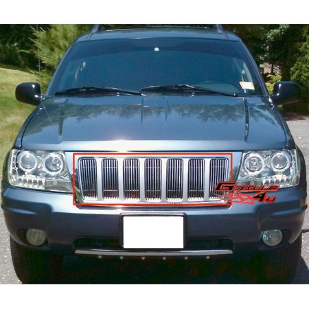 Fits 99-04 Jeep Grand Cherokee Vertical Billet Grille Insert