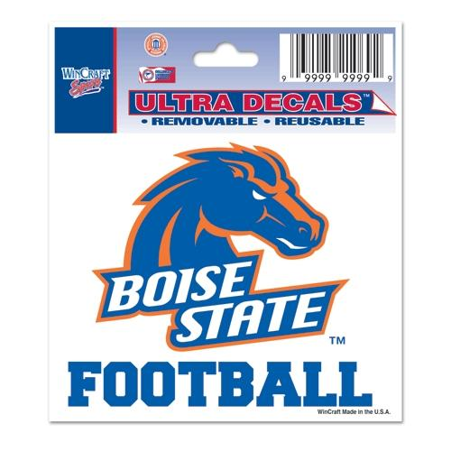 Boise State Broncos Official NCAA 3 inch  x 4 inch  Car Window Cling Decal by Wincraft