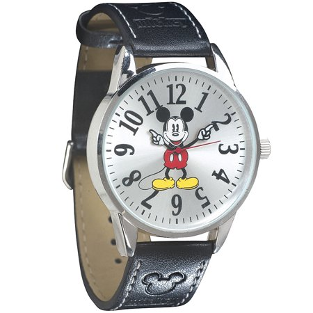 Disney Classic Mickey Mouse Leather Band Wrist Watch