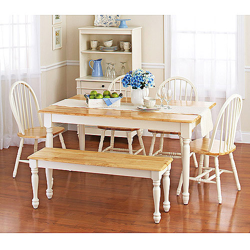 Beau Better Homes And Gardens Autumn Lane Farmhouse Table, White And Natural