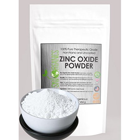 Zinc Oxide Powder for DIY Sunscreen Lotion UVA and UVB Protection Organic 16 oz