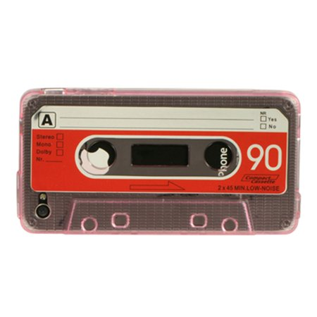 iPhone 4S Case, iPhone 4 Case, by Insten Cassette Tape Crystal TPU Rubber Candy Skin Case Cover For Apple iPhone 4