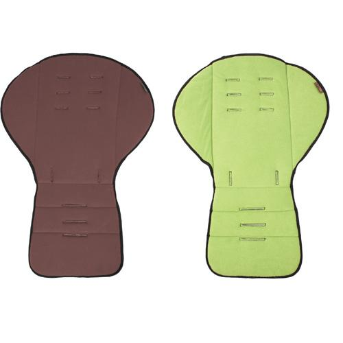 Mountain Buggy Seat Liner 2 color Reversible Fleece  Chocolate Moss