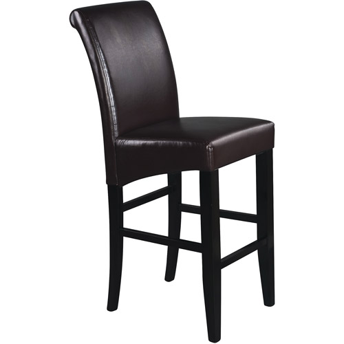 Metro Parsons Bar Stool 30 Quot Espresso Leather Walmart Com