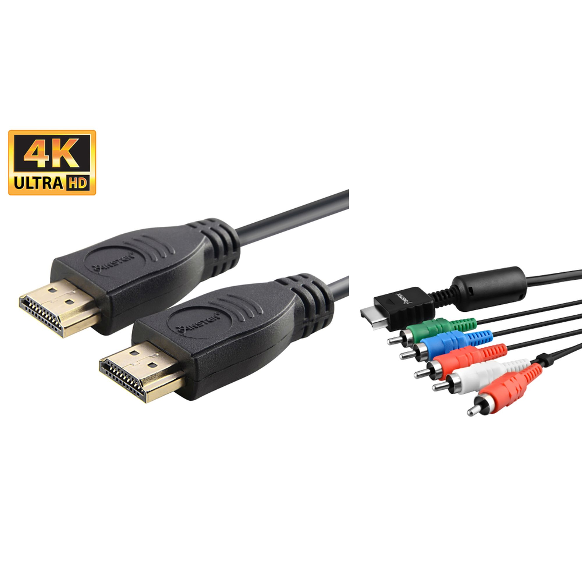 Insten Premium High Resolution Component AV Cable + 6 Feet Gold Plated high speed HDMI Cable for Playstation 4 PS4