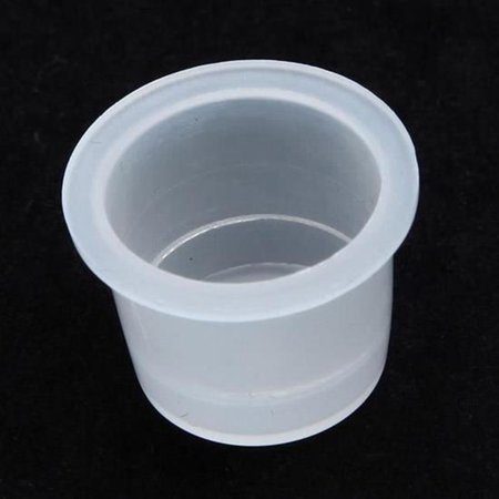 100 PCS Ink Cup Plastic Pigment Caps Holder Makeup Eyebrow Lip Tattoo Container Ring Supplies - image 4 of 4