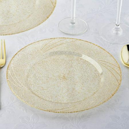 Gold Octagon Plastic Plates - Efavormart 24 Pack 9
