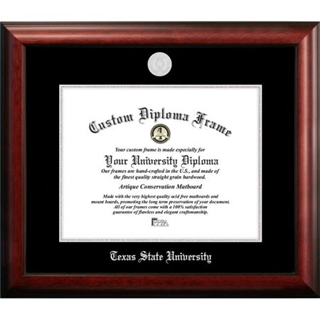 Texas State, San Marcos 14w x 11h Silver Embossed Diploma Frame (Texas San Marcos)