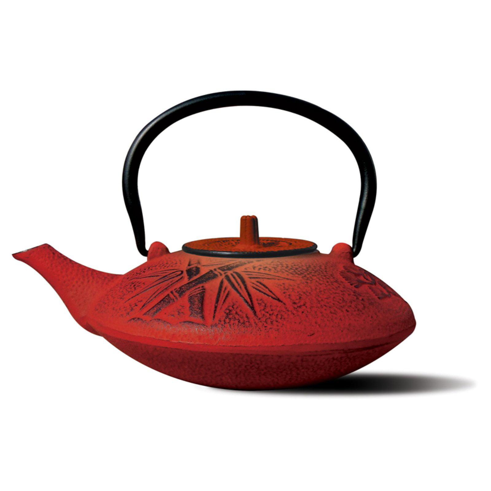 Old Dutch Red Cast Iron Sakura Teapot - 37 oz.
