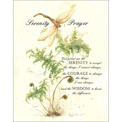 LPG Greetings Life Lines Serenity Prayer by Peggy Abrams Graphic Art Plaque