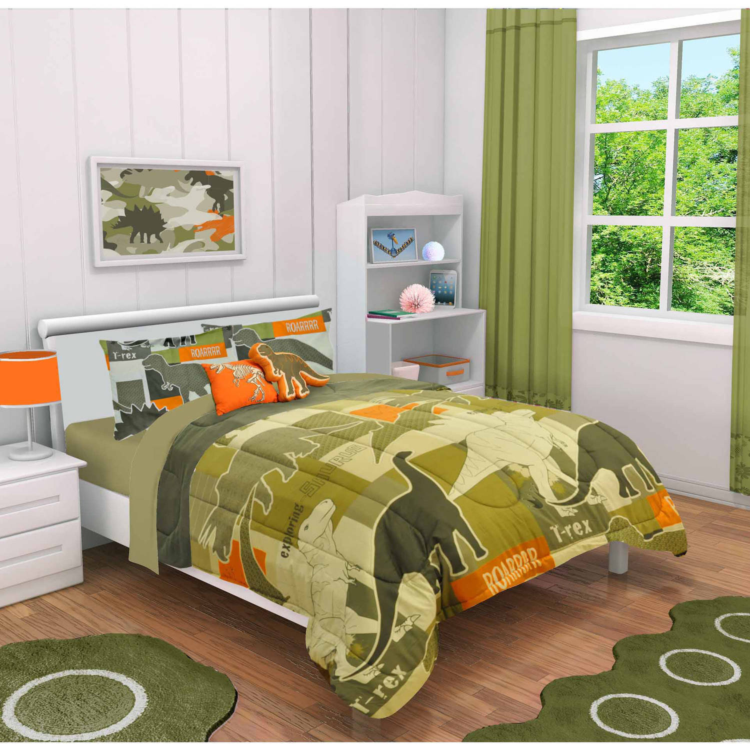 Mainstays Kids Dino Camo Comforter Set by Idea Nuova