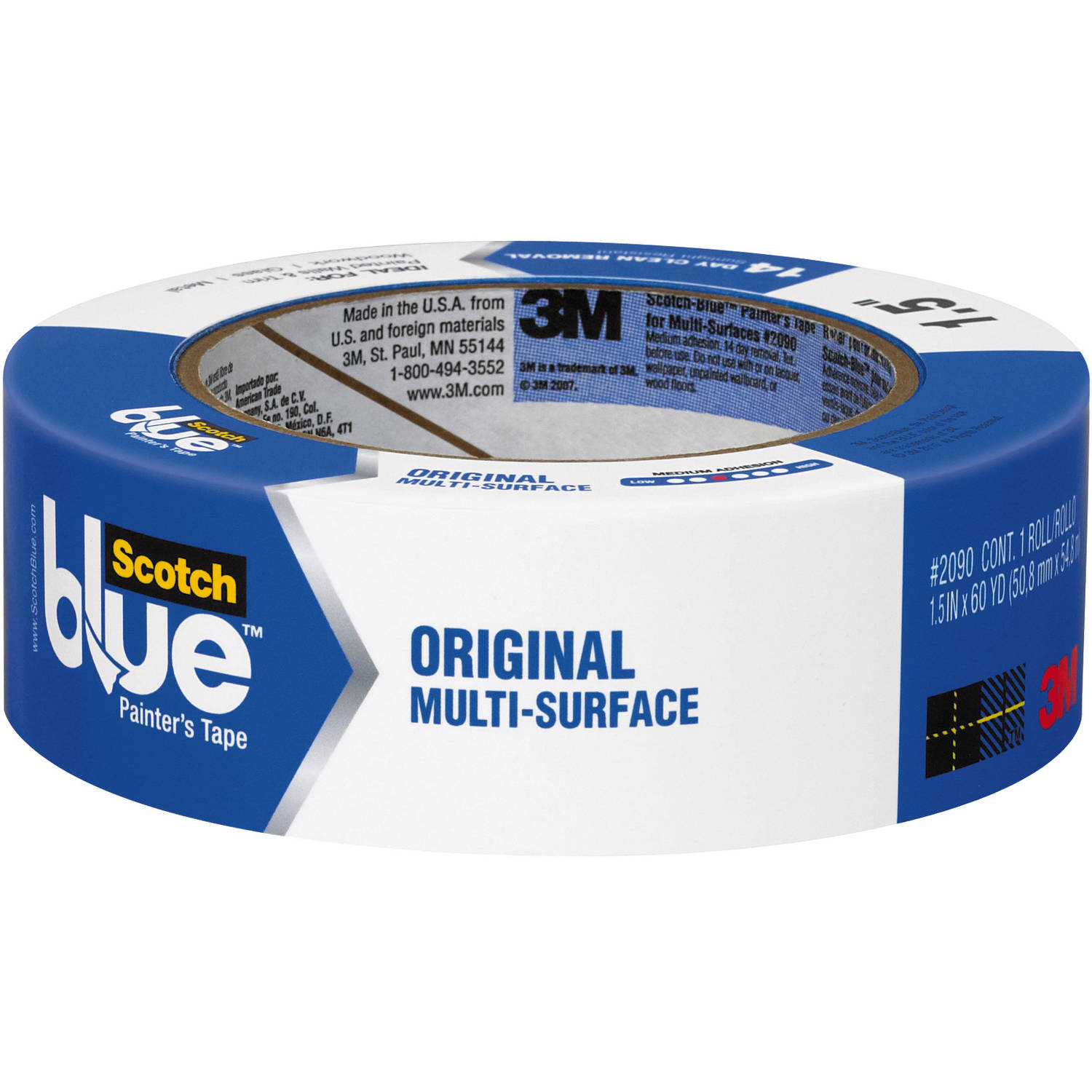 ScotchBlue Painter's Tape Original Multi-Use, 1.41in x 60yd(36mm x 54,8m