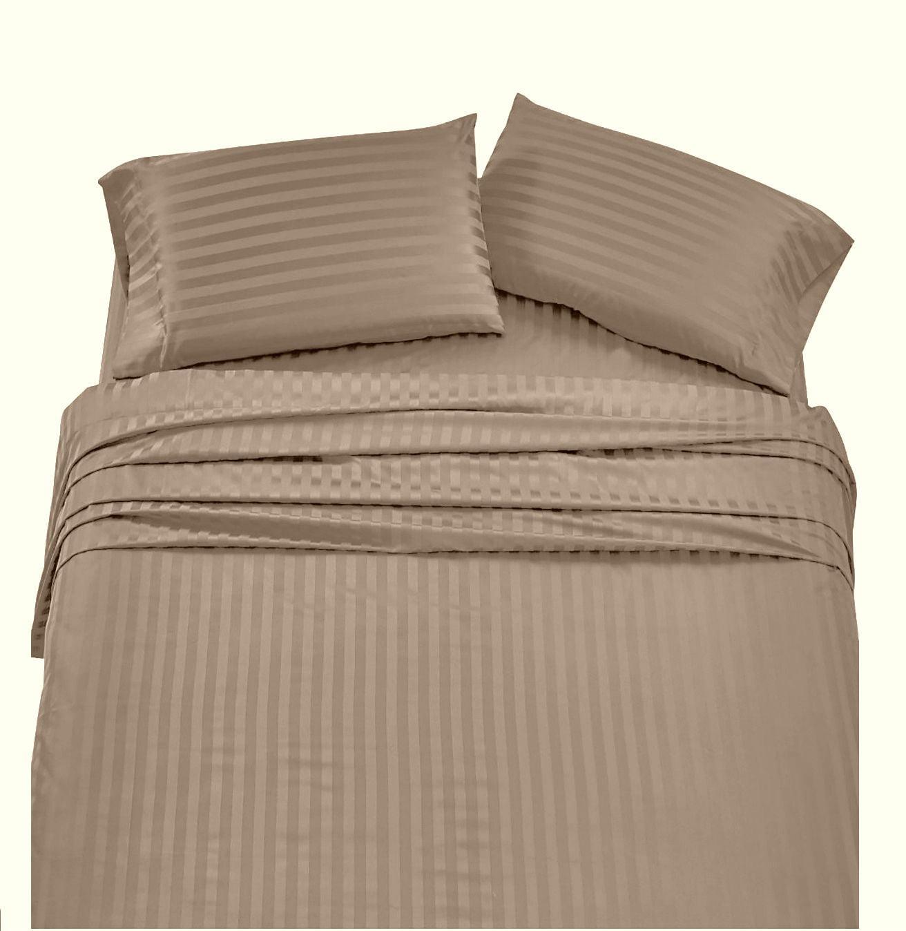 Bed Sheet Set Black Stripe RV Camper /& BUNK Bed All Sizes 1000 Thread Count