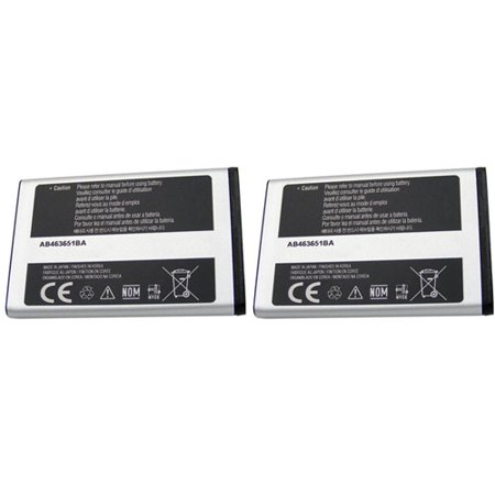 2x Battery for Samsung AB463651BA Fits Katalyst t739 Highnote M630 Exclaim M550 T739 Katalyst Cell
