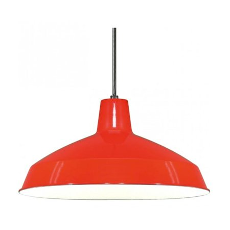 Nuvo Lighting 76663 - 1 Light Red Warehouse Aluminum Shade Pendant Light Fixture (1 Light - 16