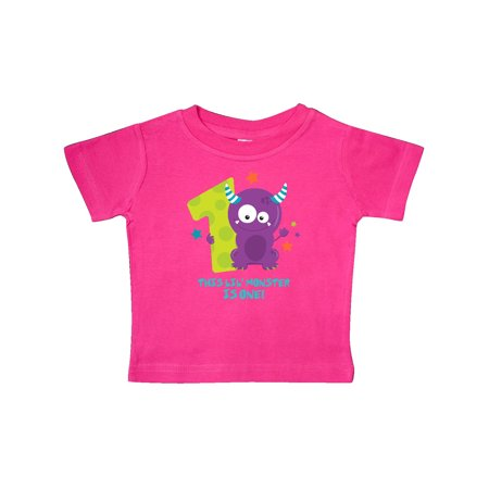 1st T-shirt - Monster 1st Birthday Baby T-Shirt